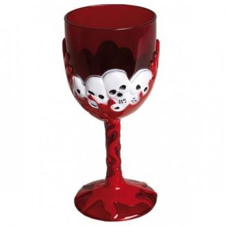 Halloween - Sklenice horrorová červená