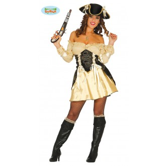 Kostýmy - Pirátka - zlatý kostým
