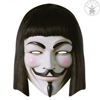 Masky - V for Vendetta - kartonová maska pro dospělé