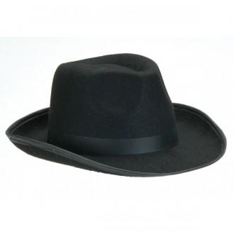 Klobouky, čepice - Pánský černý klobouk