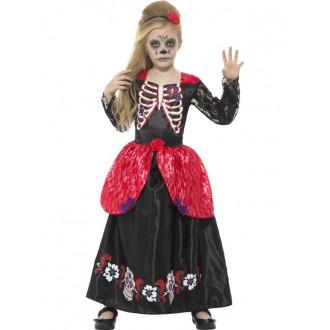 Kostýmy - Dívčí šaty Den mrtvých