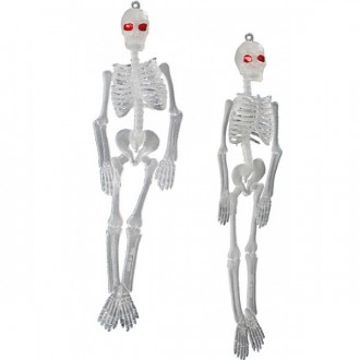 Halloween - Závěsné kostry fluoreskující 2 ks