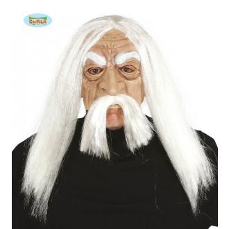 Masky - Latexová maska METHUSALEM s vlasy