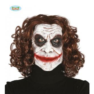 Latexová maska Joker s vlasy - Svět masek.cz f8dd3f4368