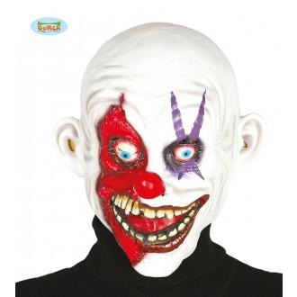 Masky - Latexová maska KLAUN bílá