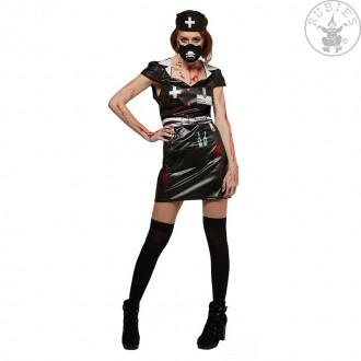 Halloween - Kostým zdravotní sestry hororový kožený