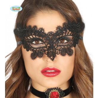 Masky - Krajková maska černá