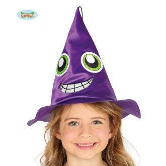 Čarodějnice - Dětský čarodějnický klobouk fialový
