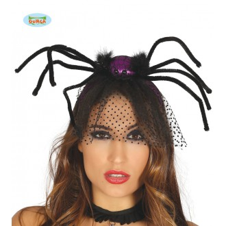 Čarodějnice - Fialový pavouk na sponě