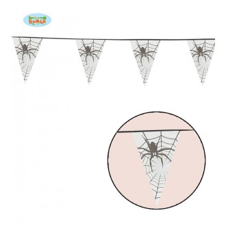 Čarodějnice - Girlanda s pavouky 600 cm