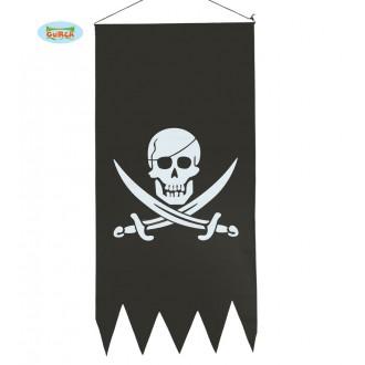 Doplňky - Pirátská vlajka 43 x 86 cm