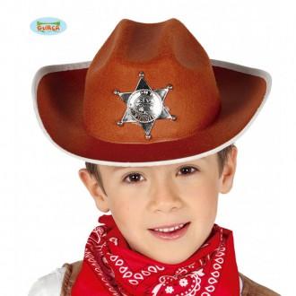 Klobouky, čepice - Kovbojský klobouk hnědý pro děti