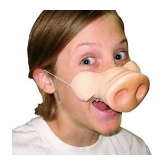Masky - Prasečí rypák s gumičkou