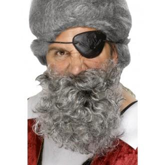 Doplňky - Pirátská bradka, světle šedá