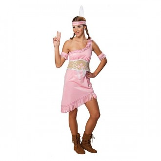 Kostýmy - Indiánka růžová