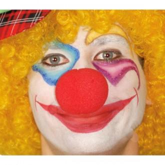 Klauni - Molitanový klaunský nos červený