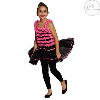 Kostýmy - Balerína růžovo-černá
