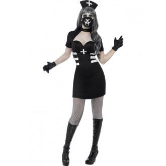 Kostýmy - Zdravotní sestřička, černý kostým