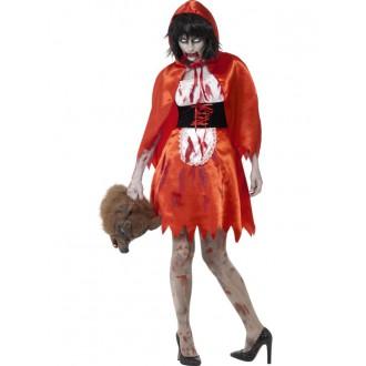 Kostýmy - Zombie červená karkulka - kostým