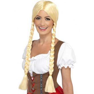 Paruky - Bavorská paruka Oktoberfest, blond
