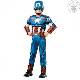 Kostýmy - Captain America Avengers Assemble Deluxe- dětský