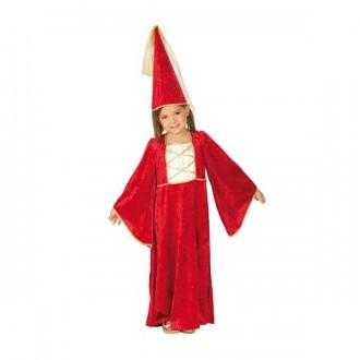 Kostýmy - Zámecká paní s kloboukem - dětský karnevalový kostým