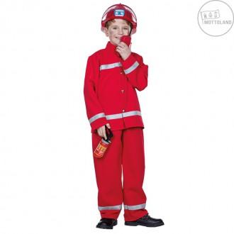 Kostýmy - Hasič - červený kostým