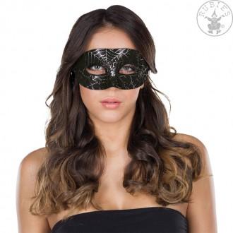 Masky - Domino maska s pavoučí sítí