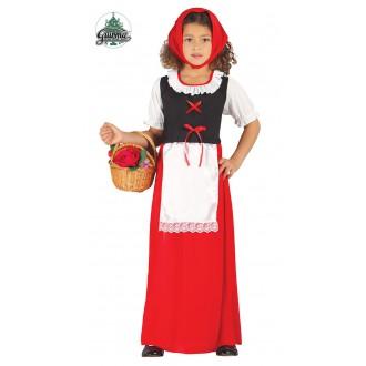 Kostýmy - Červená Karkulka s šátkem a zástěrou
