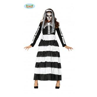 Halloween - Skeleton - dlouhé šaty