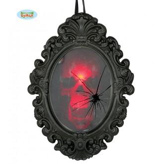 Doplňky - Zrcadlo se zobrazující se lebkou