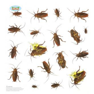 Halloween - Dekorace - 20 samolepících švábů