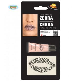 Doplňky - Tetování na rty zebra