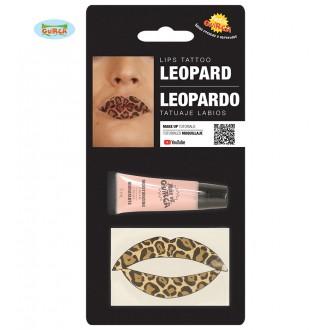Doplňky - Tetování na rty leopard