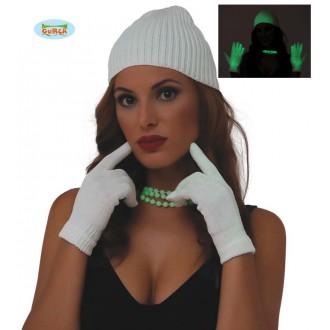Rukavice - Rukavice bílé fluoreskující