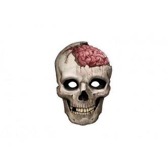 Halloween - Kartonová maska lebka