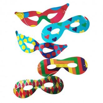 Masky - Škrabošky papírové mix