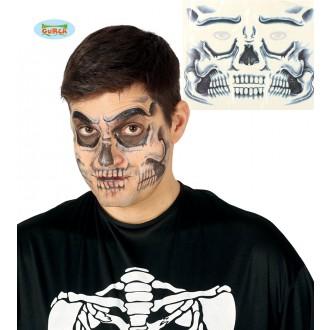 Halloween - Tetování na obličej - smrtka