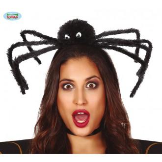 Klobouky, čepice - Černý pavouk na vlasové sponě