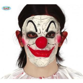 Halloween - Polomaska klauna latexová