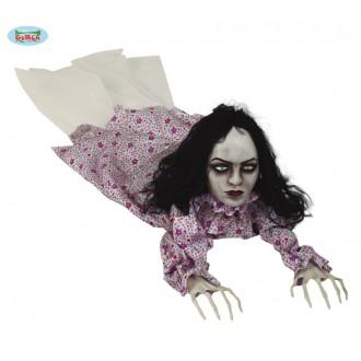 Halloween - Plazící se zombie žena