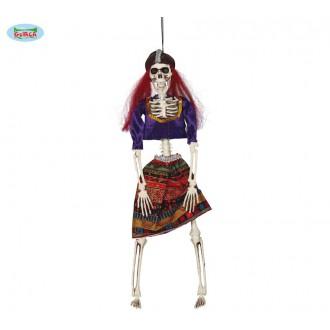 Halloween - Závěsná kostra pirátky