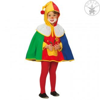 Kostýmy - Klaun - pelerína s kapucí