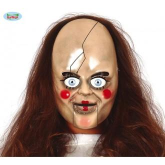 Halloween - Plastová maska panenka