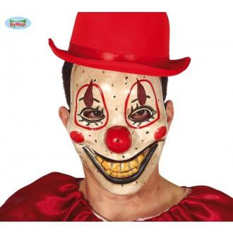Halloween - Plastová maska strašidelný klaun