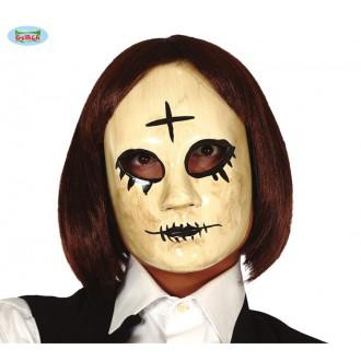 Halloween - Žena s křížkem -  plastová maska