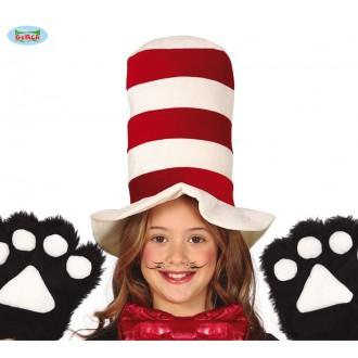 Klobouky, čepice - Červeno-bílý klobouk dětský