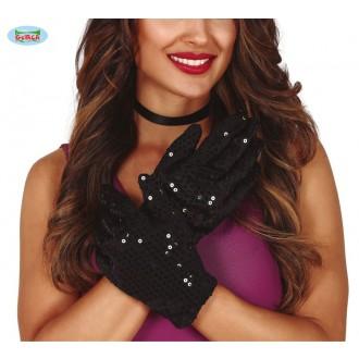 Rukavice - Flitrové rukavice krátké