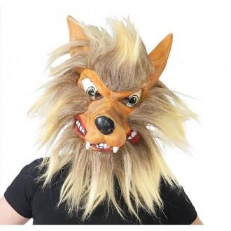 Masky - Maska vlka s vlasy