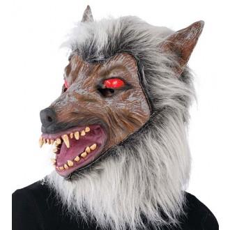 IMPORT - Latexová maska šedý vlk